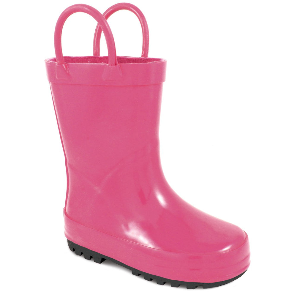 Fuchsia Rubber Rain Boot