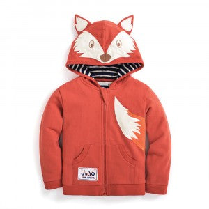 Fox Zip-Up Hoodie Rust- select size
