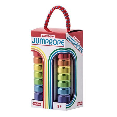 Tin Handle Rainbow Jump Rope