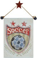 Load image into Gallery viewer, Hanging Soccer Banner - CP224 - Wall Art