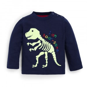Dino Navy Glow in the Dark Top - select size