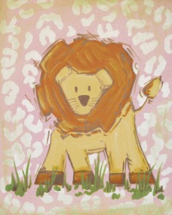 Safari Lion in Pink - CP256 - Wall Art