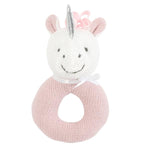 Unicorn Knit Ring Rattle