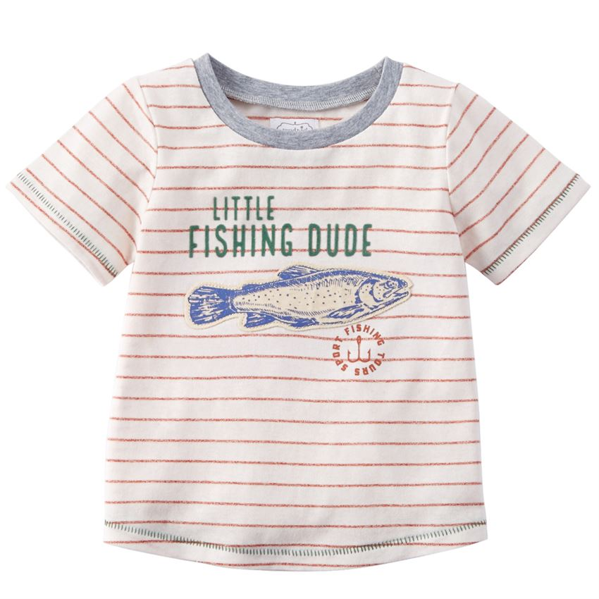 Little Fishing Dude Cotton Tee - Select Size