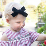 Velvet Bow Headband - Select Color