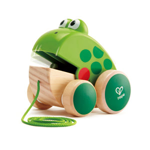 Frog Pull Along Wooden Toy