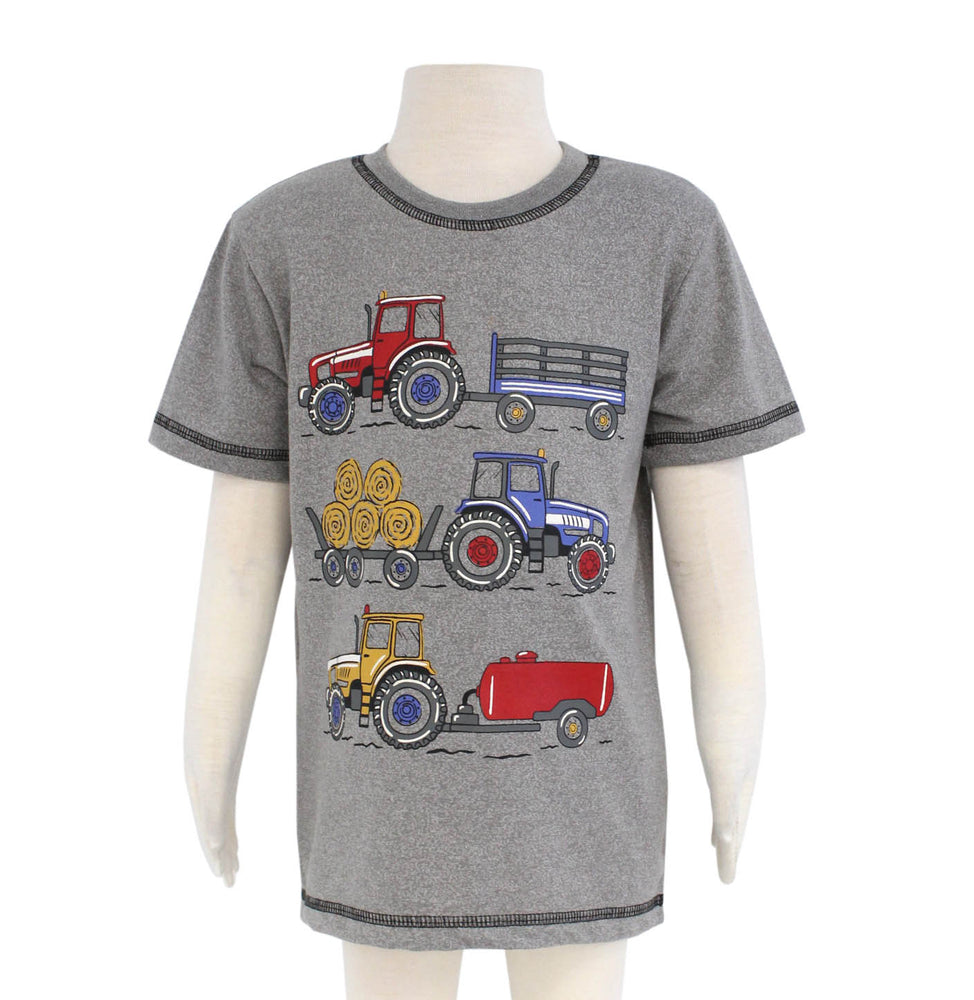 Multi Tractor Print Short Sleeve Tee  - Select Size