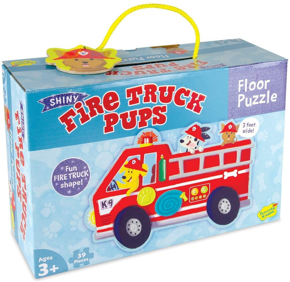 Floor Puzzle: Shiny Fire Trucks Pups