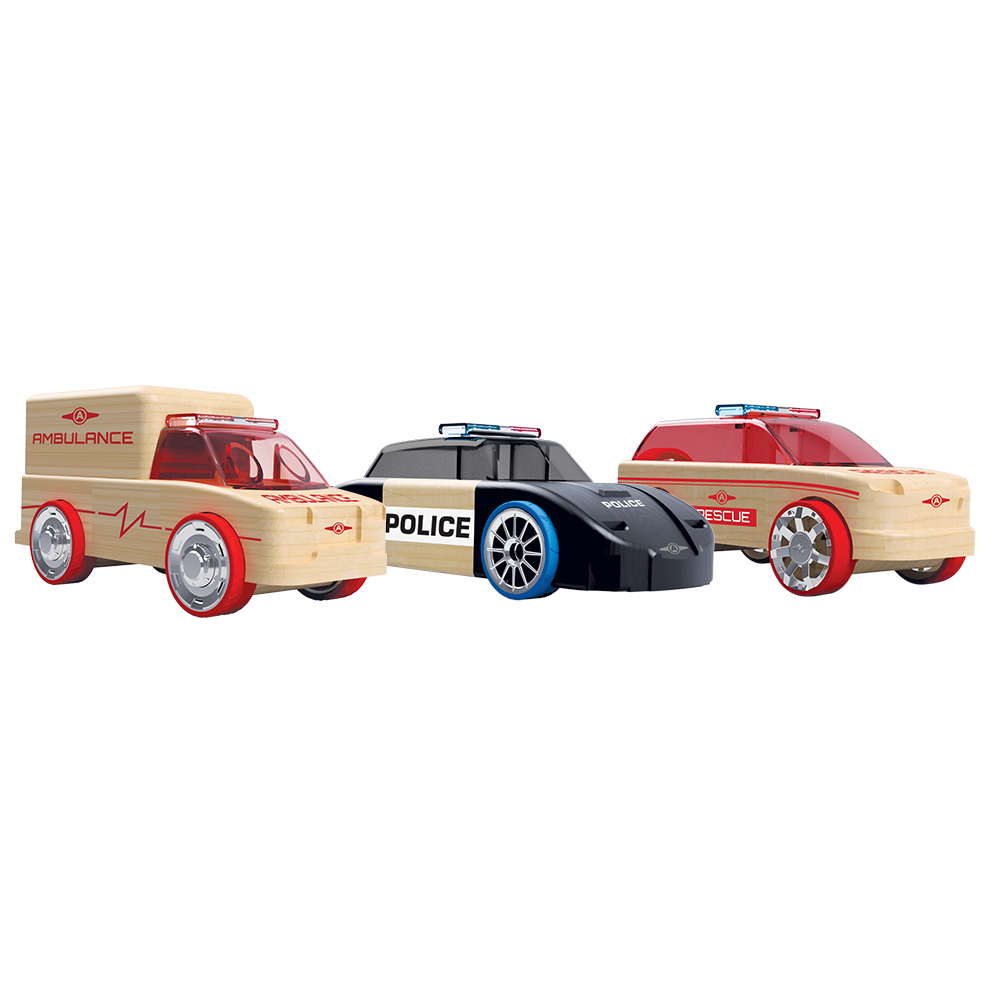 Automoblox® Mini 3-Pack Rescue Vehicles