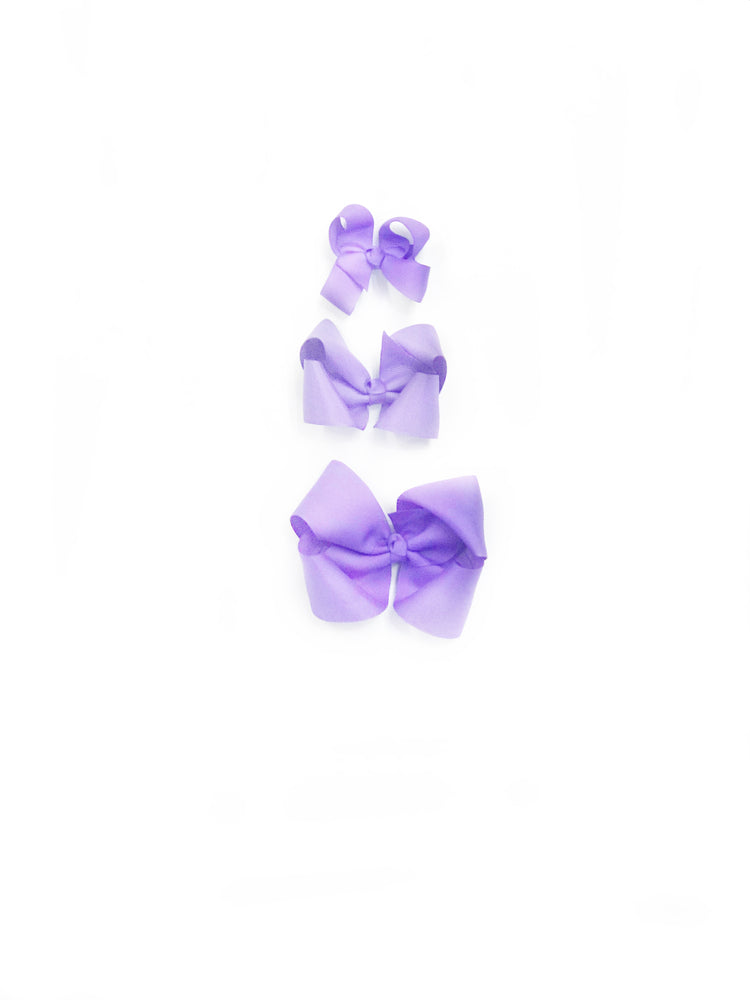 "Lavender Hair Bow - Choose Size (3""-8"")"