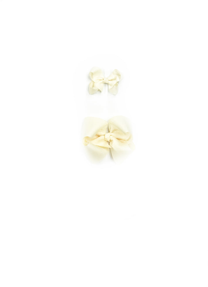 "Cream Hair Bows - Choose Size (3""-8"")"