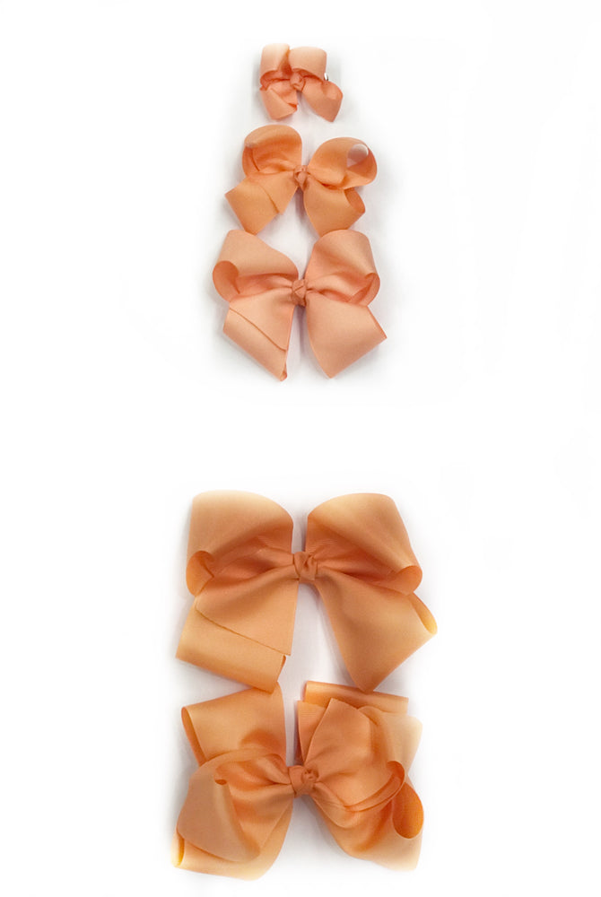 "Apricot Hair Bow - Choose Size (3""-8"")"