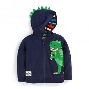 Dinosaur Zip-Up Hoodie Navy- select size