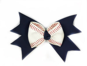 Baseball Bow - Choose Ribbon Color
