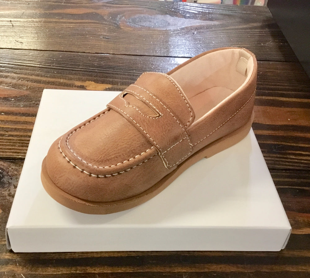 Brown Burnished Loafer