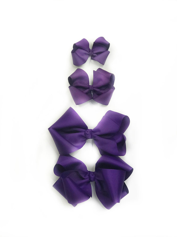 "Purple Hair Bow - Choose Size (3""-8"")"