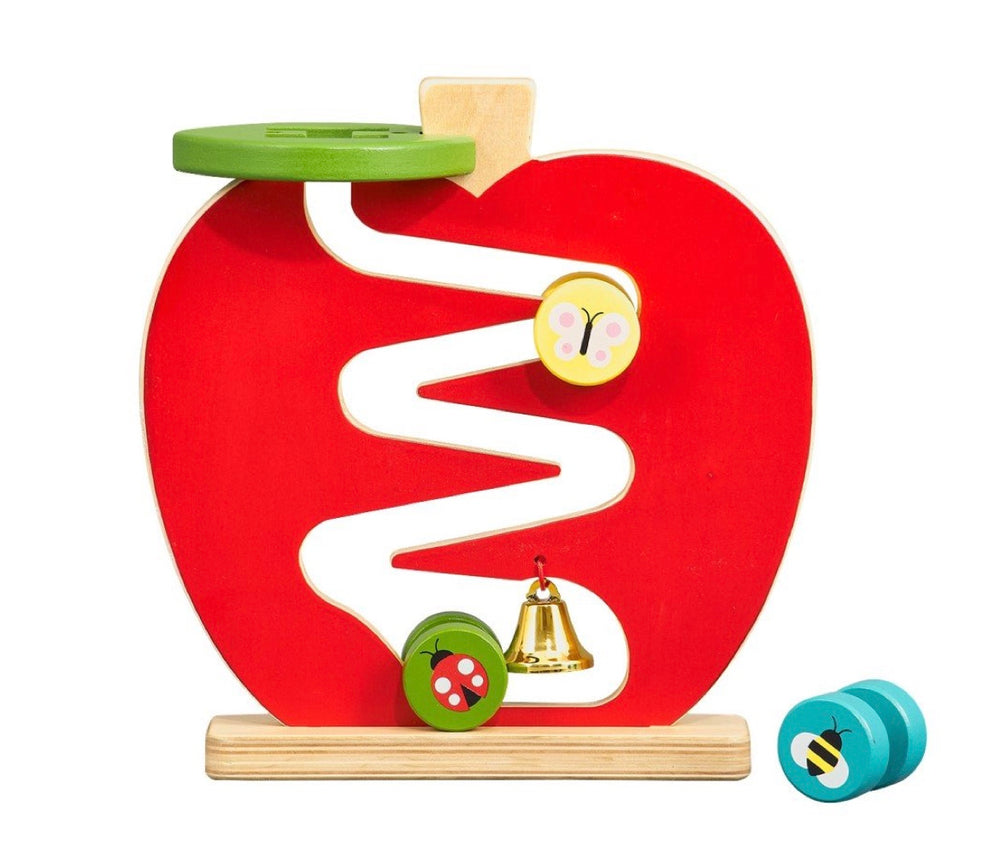 Petit Collage Apple Run Wooden Play Set