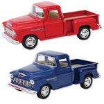 Diecast 1955 Chevy Stepside Pickup Truck - Red Or Blue