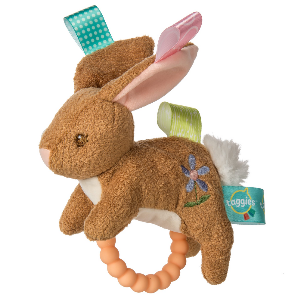 Taggies Harmony Bunny Teether Rattle - 6 Inch