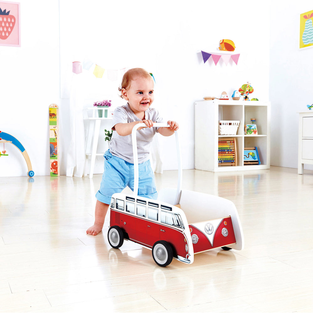 Hape Classic Bus Walker - Red
