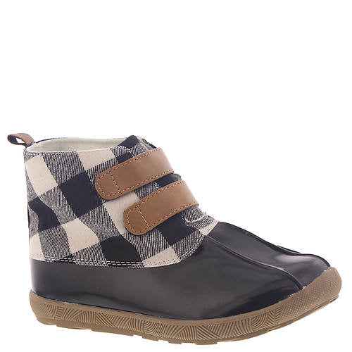 Black Duck Boots with Black & Cream Buffalo Plaid  - Select Size