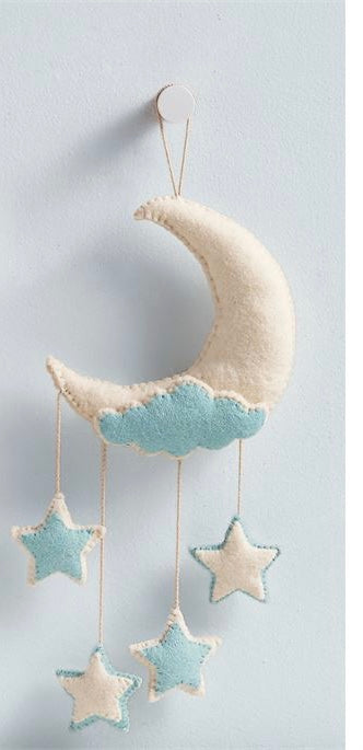 Blue Moon Felt Wall Hanging