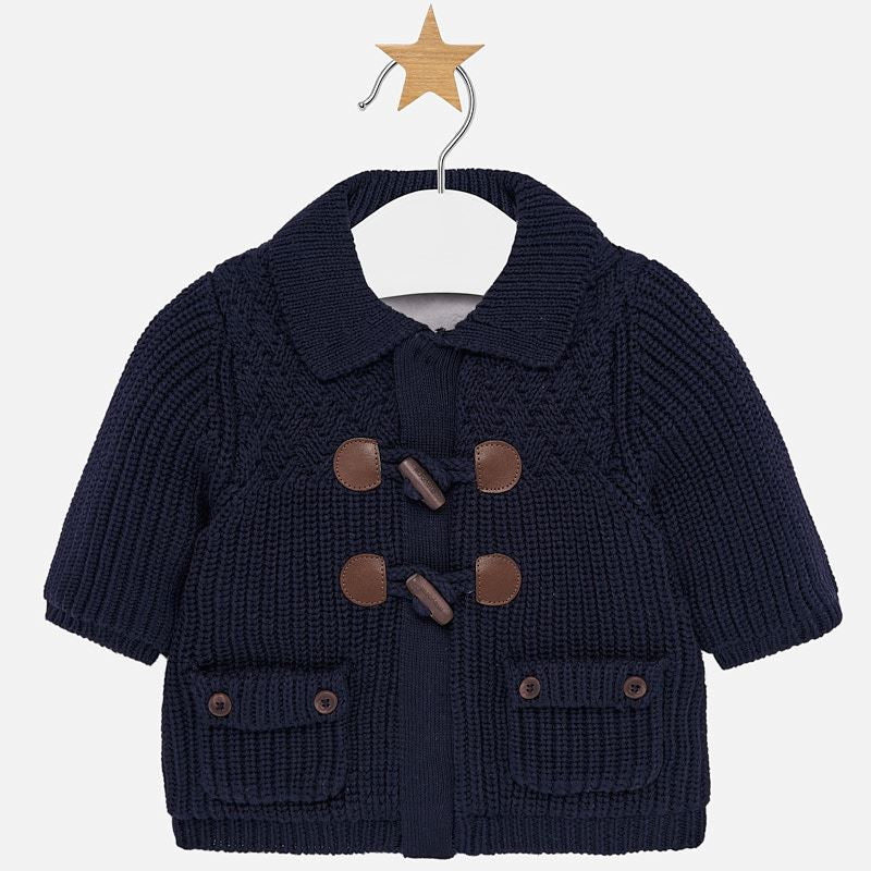Navy Boys Woven Knit Jacket - Select Size