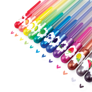 Yummy Yummy Scented Colored Glitter Gel Pens 2.0 -  Set of 12
