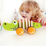 Hape Walk-A-Long Croc - Pull Wooden Toy