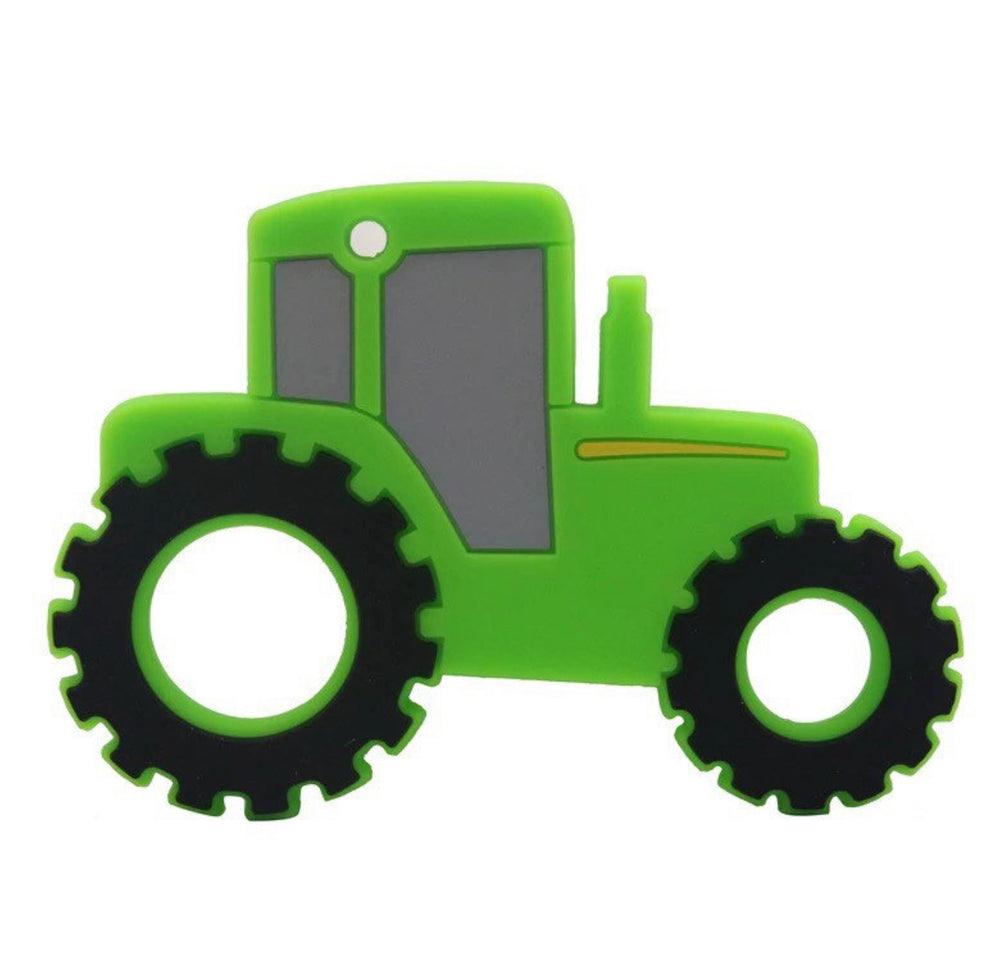 Tractor Silicone Teethers - Select Green or Yellow