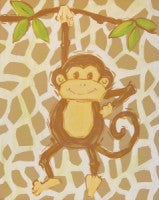 Safari Monkey in Tan - CP251 - Wall Art