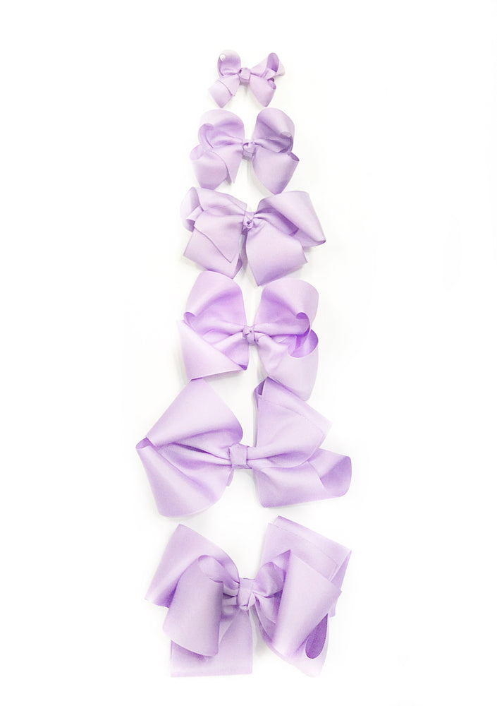 "Lilac Hair Bow - Choose Size (3""-8"")"