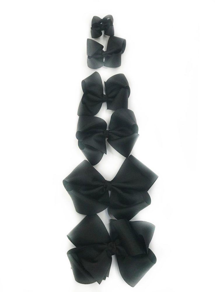 "Black Hair Bow - Choose Size (3""-8"")"