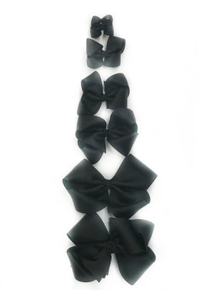 "Load image into Gallery viewer, Black Hair Bow - Choose Size (3""-8"")"