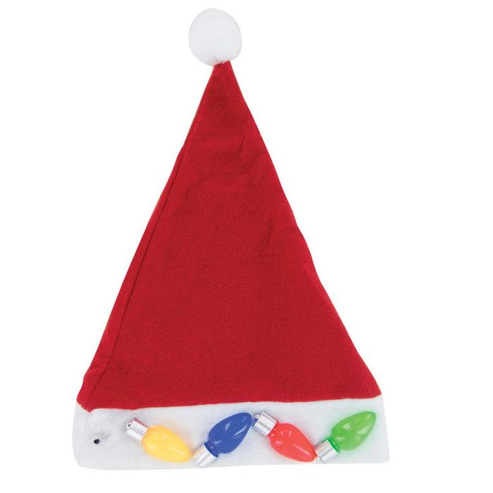 Christmas Jumbo Light-Up Santa Hat