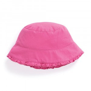 Girl's Pretty Twill Sun Hat - Orchid - Select Size