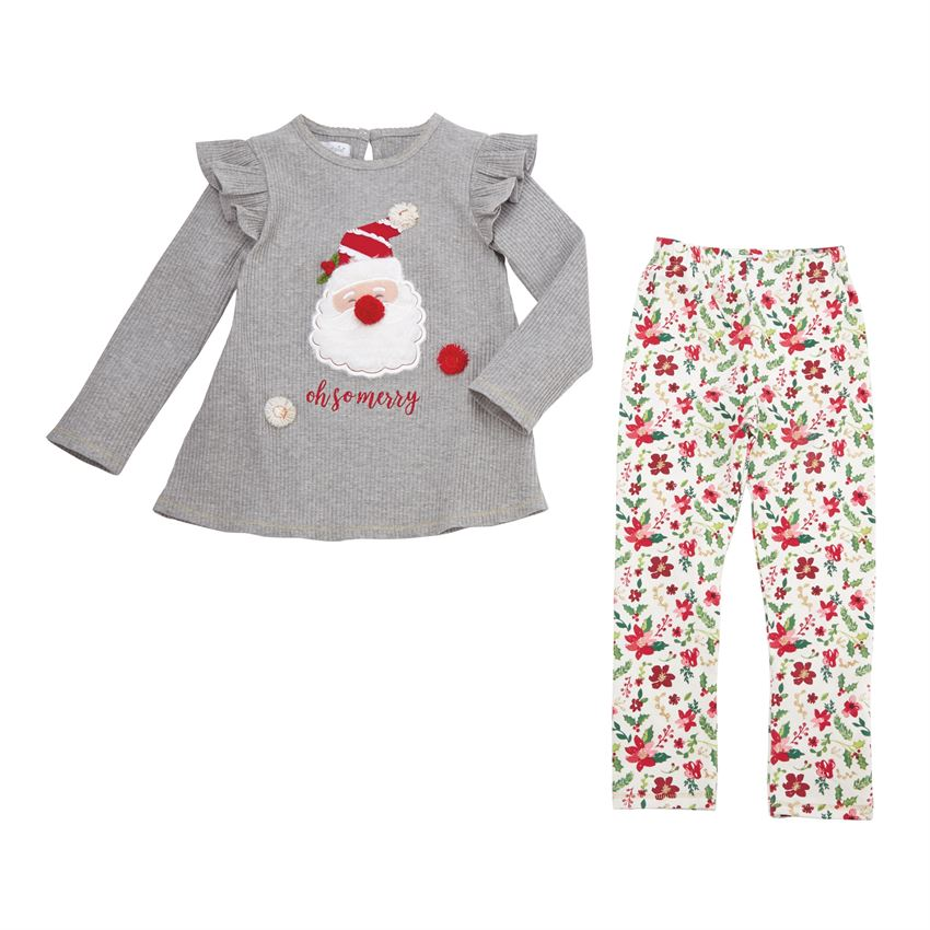 Oh So Merry Tunic & Floral Legging Set - Select Size