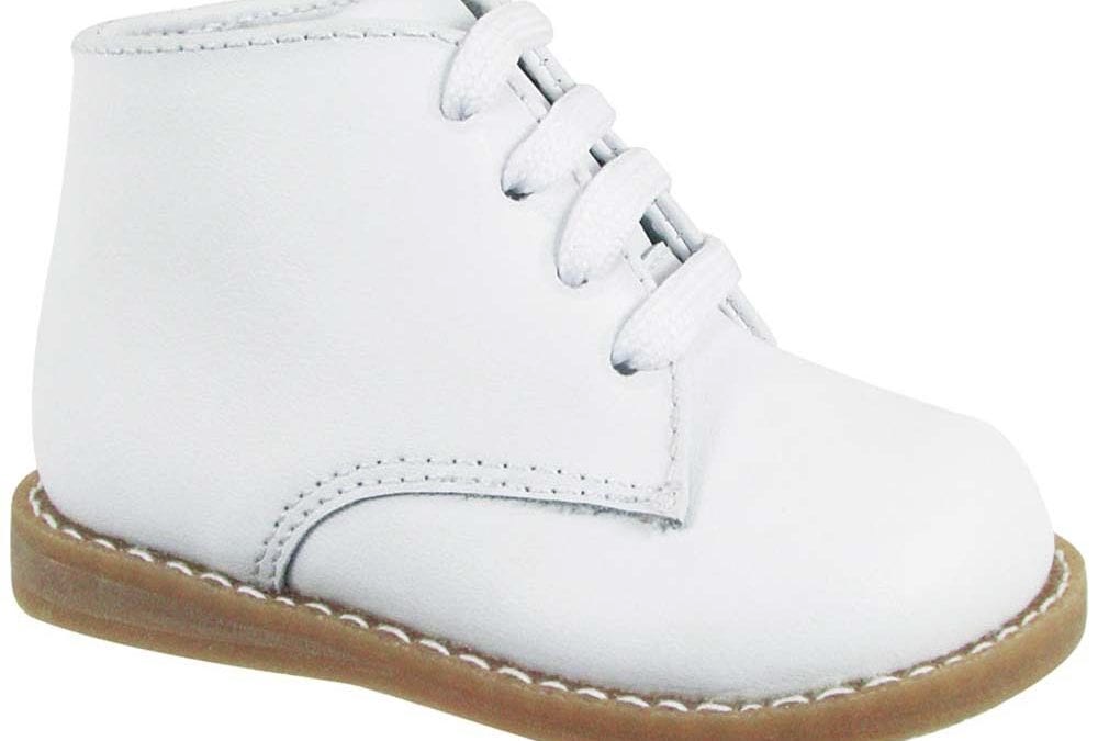 Lee Classic White Leather Hi-Top Walking Booties - Select Size