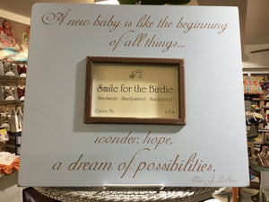 A New Baby is Like the Beginning of All Things... - 611-PB - Picture Frame