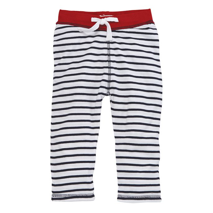 Red & Stripe Infant Reversible Pull-On Pants- Select Size