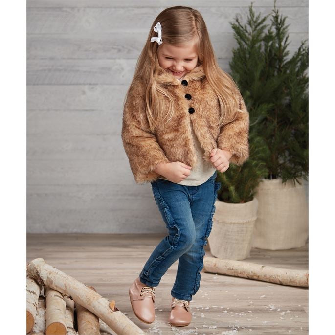 Girl's Faux Fur Jacket - Select Size