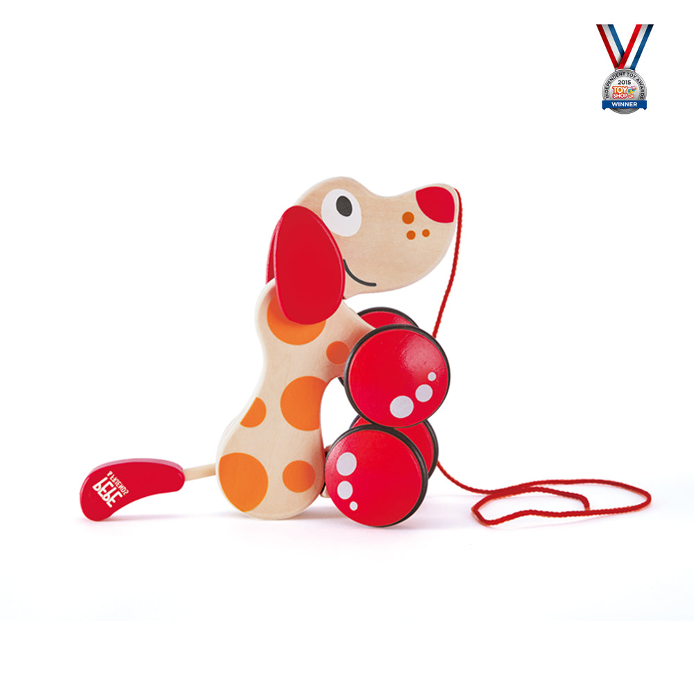 Pepe Pull Along- Walk Along Puppy Wooden Toy