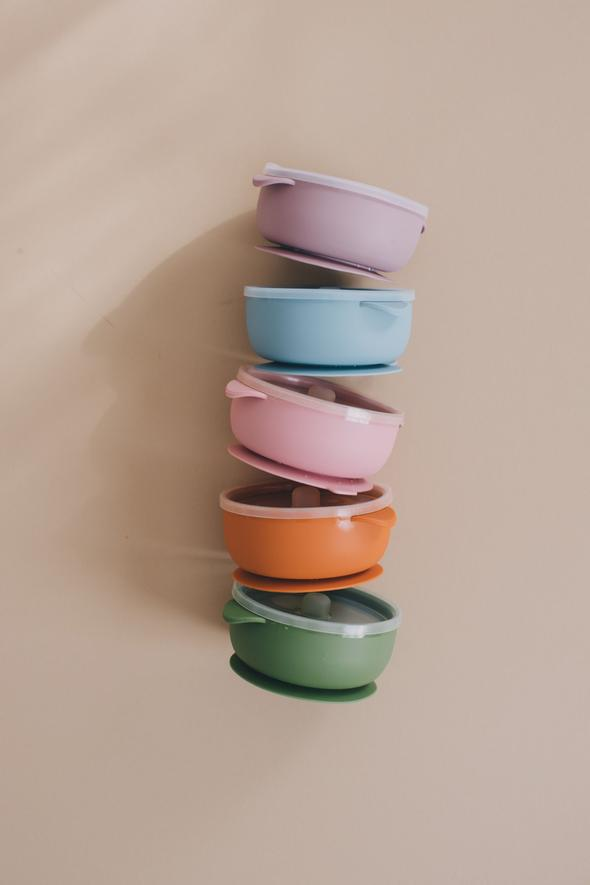 Baby Bar & Co Silicone Suction Bowl With Lid - Select Color