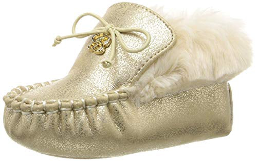 Jessica Simpson Royce Faux-Fur Trimmed Moccasin - Gold