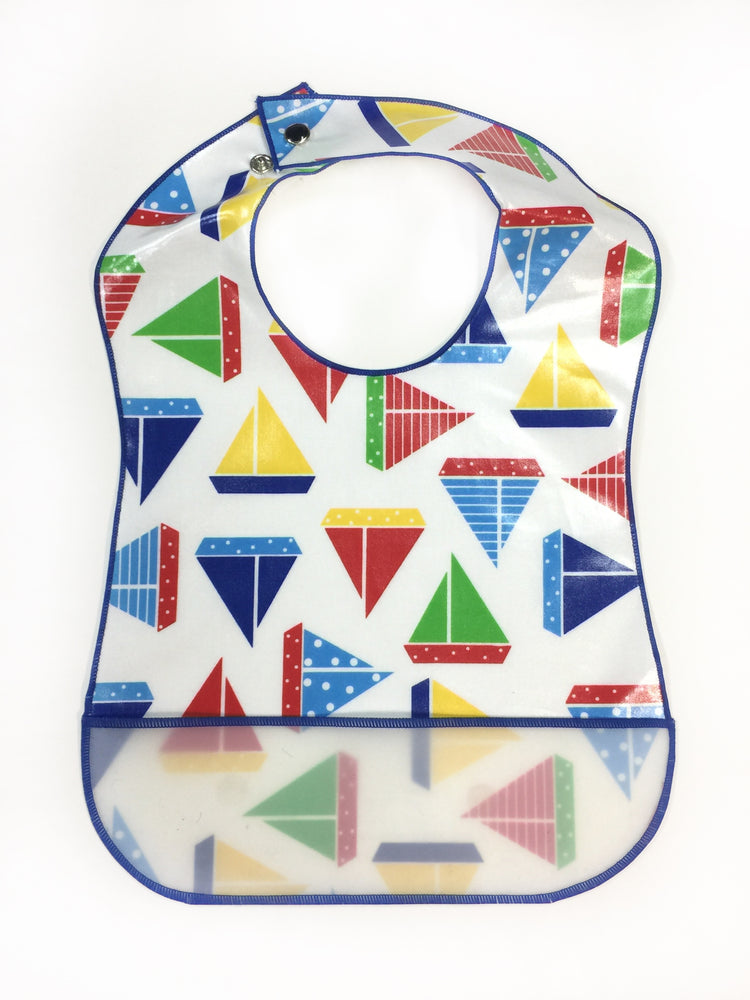 Sailboats - Laminate Bib - POS
