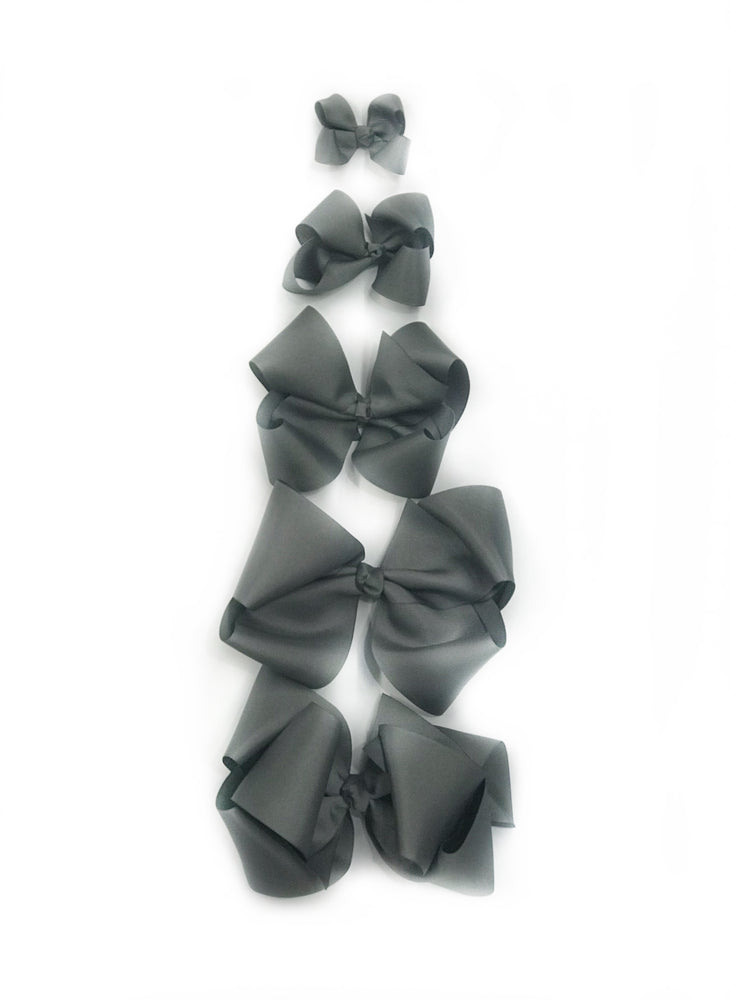 "Grey Hair Bow - Choose Size (3""-8"")"