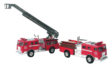 Diecast Fire Engine - Choose With or Without Ladder