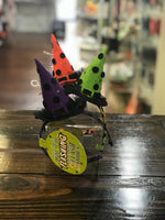 Halloween Flashing Light Up Witch Hat Headband Polka Dots- Purple, Green or Orange