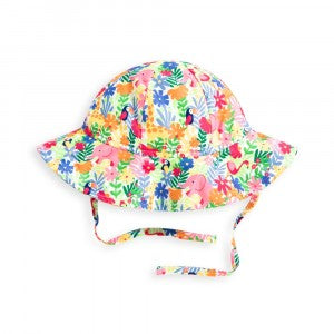 Girl's Floppy Jungle Print Sun Hat - Select Size