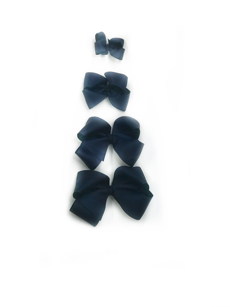 "Dark Navy Blue Hair Bow - Choose Size (3""-8"")"